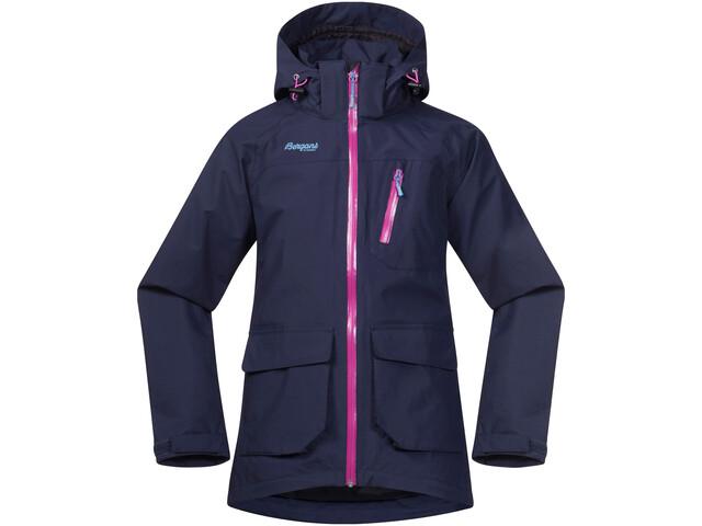 Bergans Folven Jacket Barn navy/pink rose/glacier
